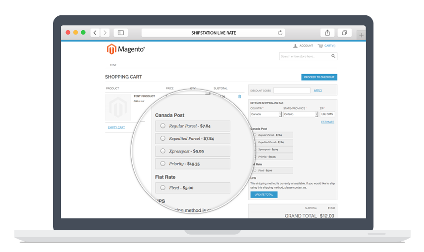 Shipstation as Shipping method in Magento - Live Rate Calculator